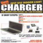 Indoor Light Portable Solar Charger