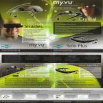 Myvu Personal Media Viewer Shades Crystal Solo Plus