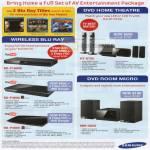 DVD Home Theatre Wireless Blu Ray Room Micro Player