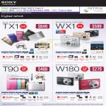 Cybershot Digital Cameras TX1 WX1 T90 W180