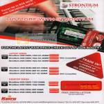 Strontium Technology DDR RAM Laptop Series Desktop Series DD3 DDR2 Trade In