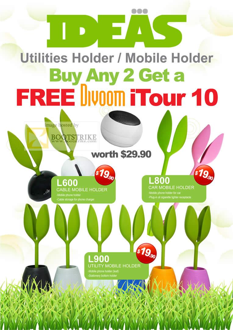 Sitex 2010 price list image brochure of Cresyn Ideas Utilities Holder Mobile Holder L600 L800 L900