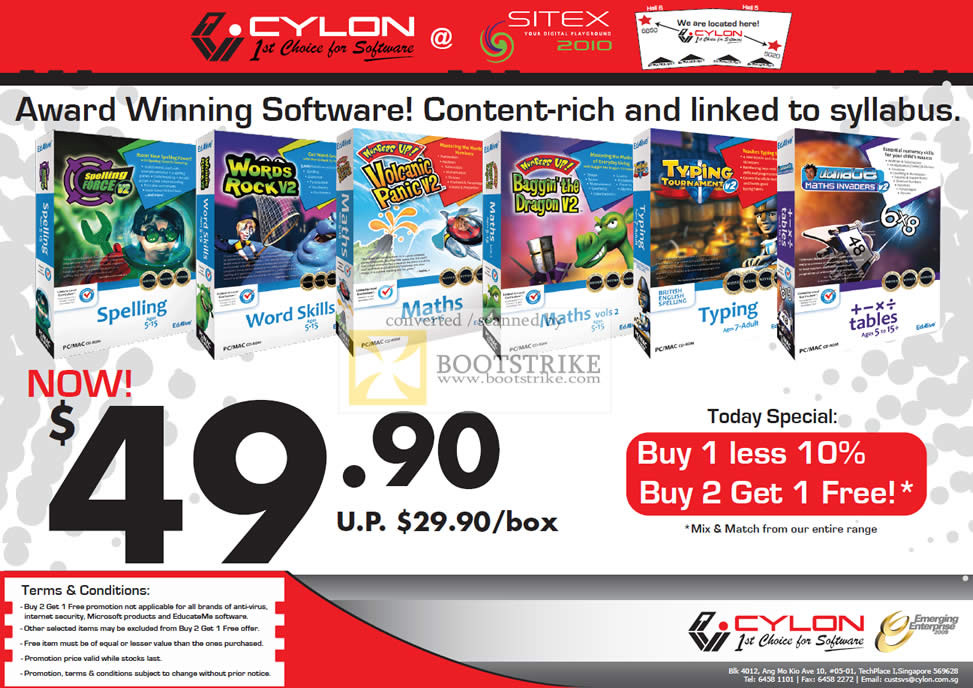 Sitex 2010 price list image brochure of Cylon Interactive Ed Alive CD Kids Software