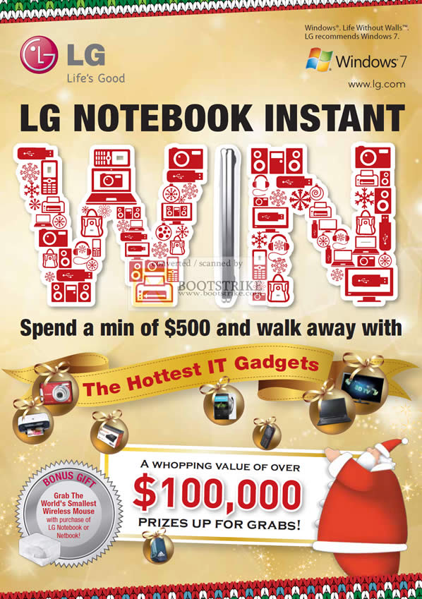 Sitex 2010 price list image brochure of LG Notebooks Instant Win Lucky Draw