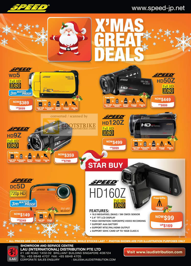 Sitex 2010 price list image brochure of Lau Intl Speed Video Camcorder WD5 HD50Z HD9Z HD120Z DC5D HD160Z