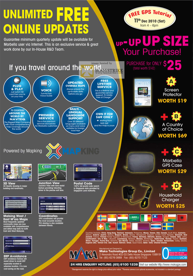 Sitex 2010 price list image brochure of Marbella GPS Features Tutorial Free Gifts Mapking Junction View 3D