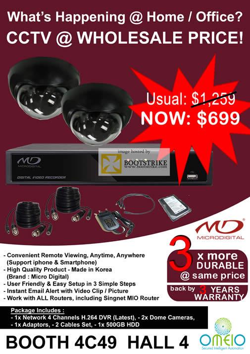 Sitex 2010 price list image brochure of Omeio CCTV MD Microdigital