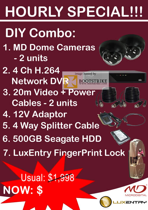 Sitex 2010 price list image brochure of Omeio Hourly Special MD Dome Cameras Network DVR LuxEntry FingerPrint