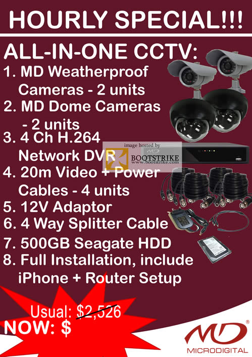 Sitex 2010 price list image brochure of Omeio Hourly Special MD Weatherproof Cameras Dome Network DVR