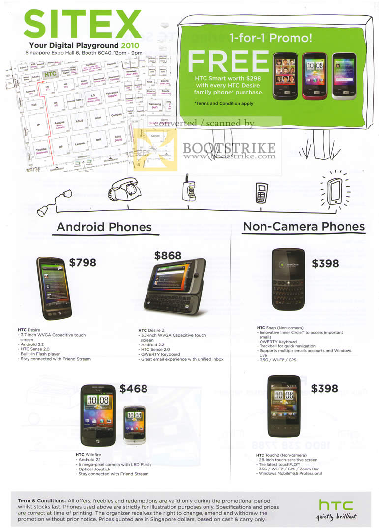 Phone Android Phones Price qool labs htc android phones desire z wildfire snap touch2 non sitex 2010 price list image brochure of wildfire