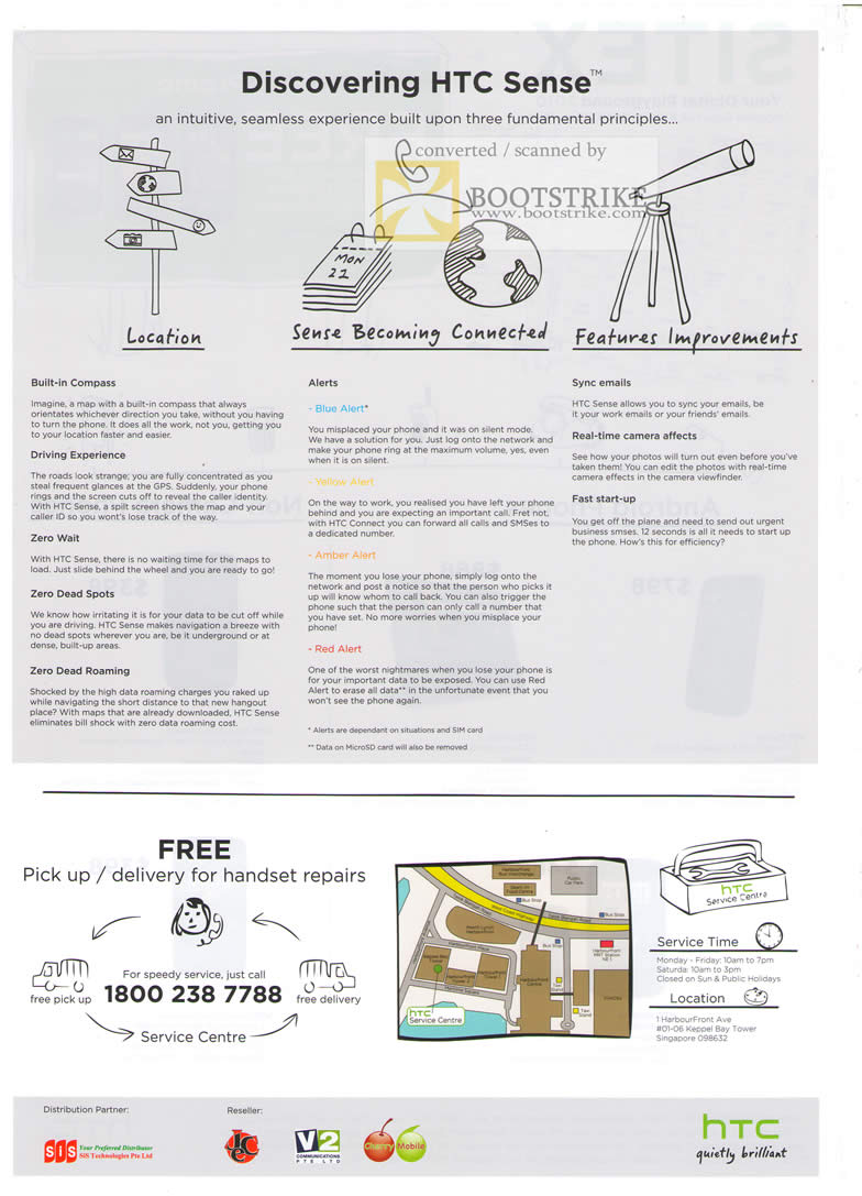 Sitex 2010 price list image brochure of Qool Labs HTC Sense Features Compass GPS Emails Alerts