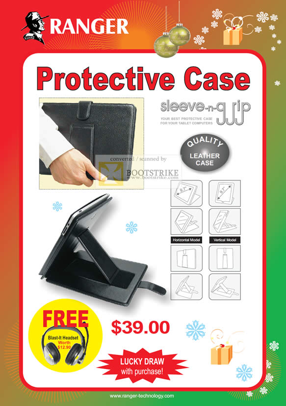 Sitex 2010 price list image brochure of Ranger Sleeve N Grip Leather Protective Case
