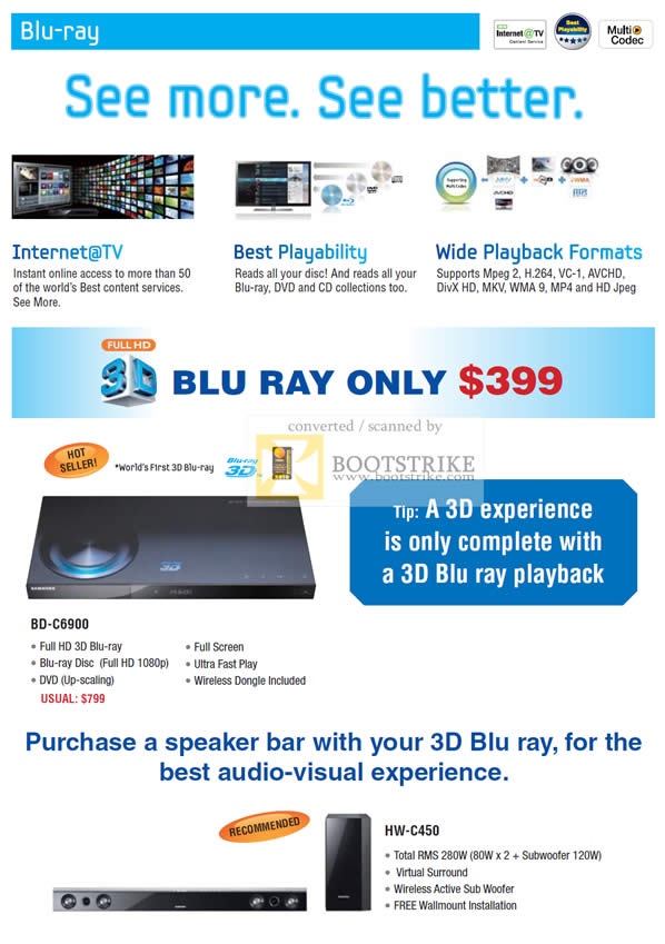 Sitex 2010 price list image brochure of Samsung Courts Blu Ray Player BD C6900 1