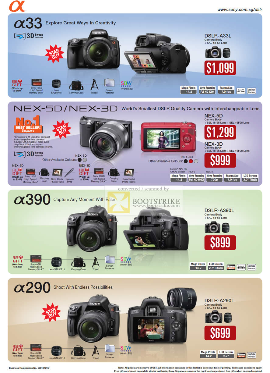 Camera List Of Sony Dslr Camera With Price sony alpha dslr price list in india digital cameras a33 nex 5d 3d a33l a390 a290 a390l