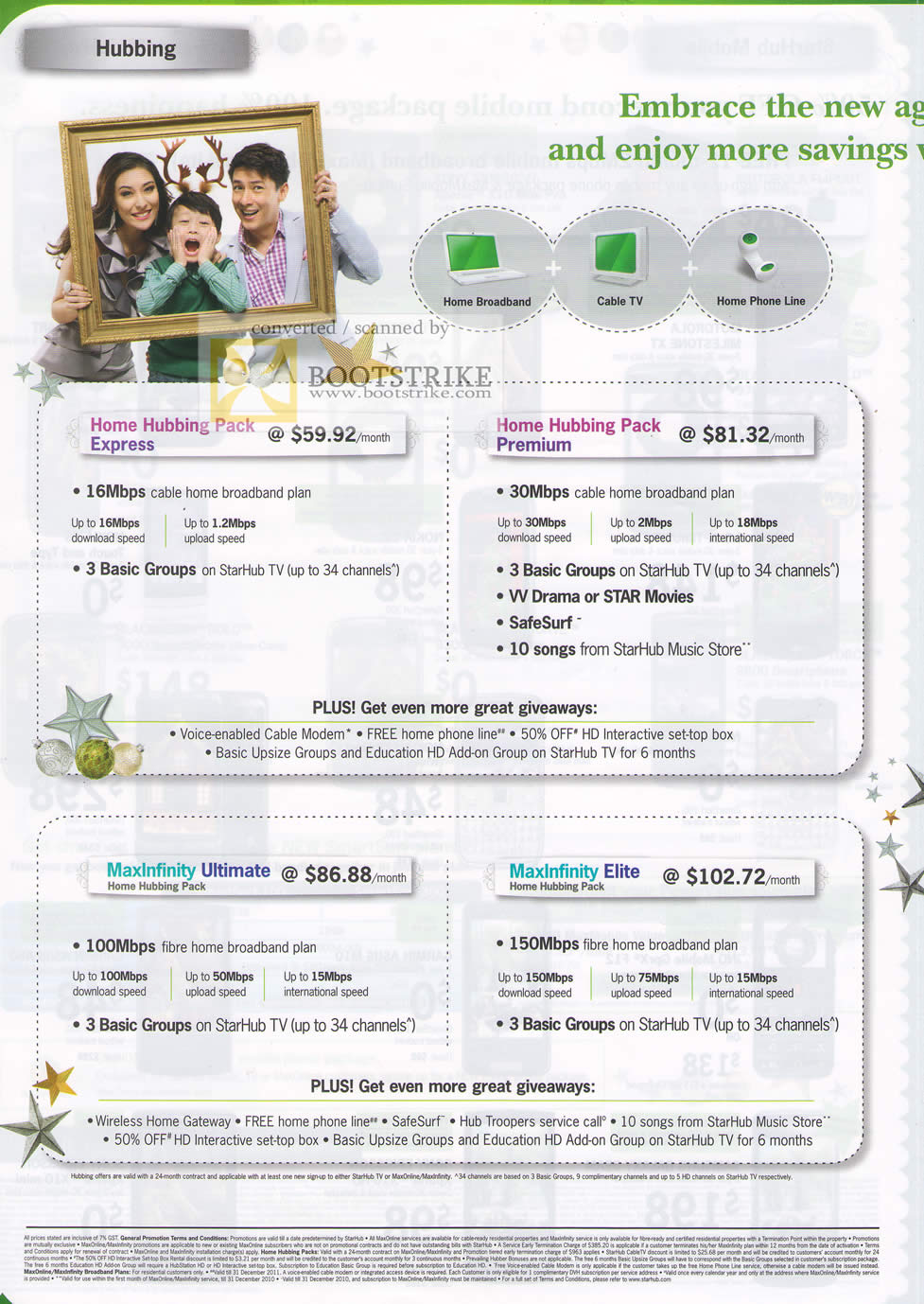 Sitex 2010 price list image brochure of Starhub Home Hubbing Pack Express Premium MaxInfinity Ultimate Elite