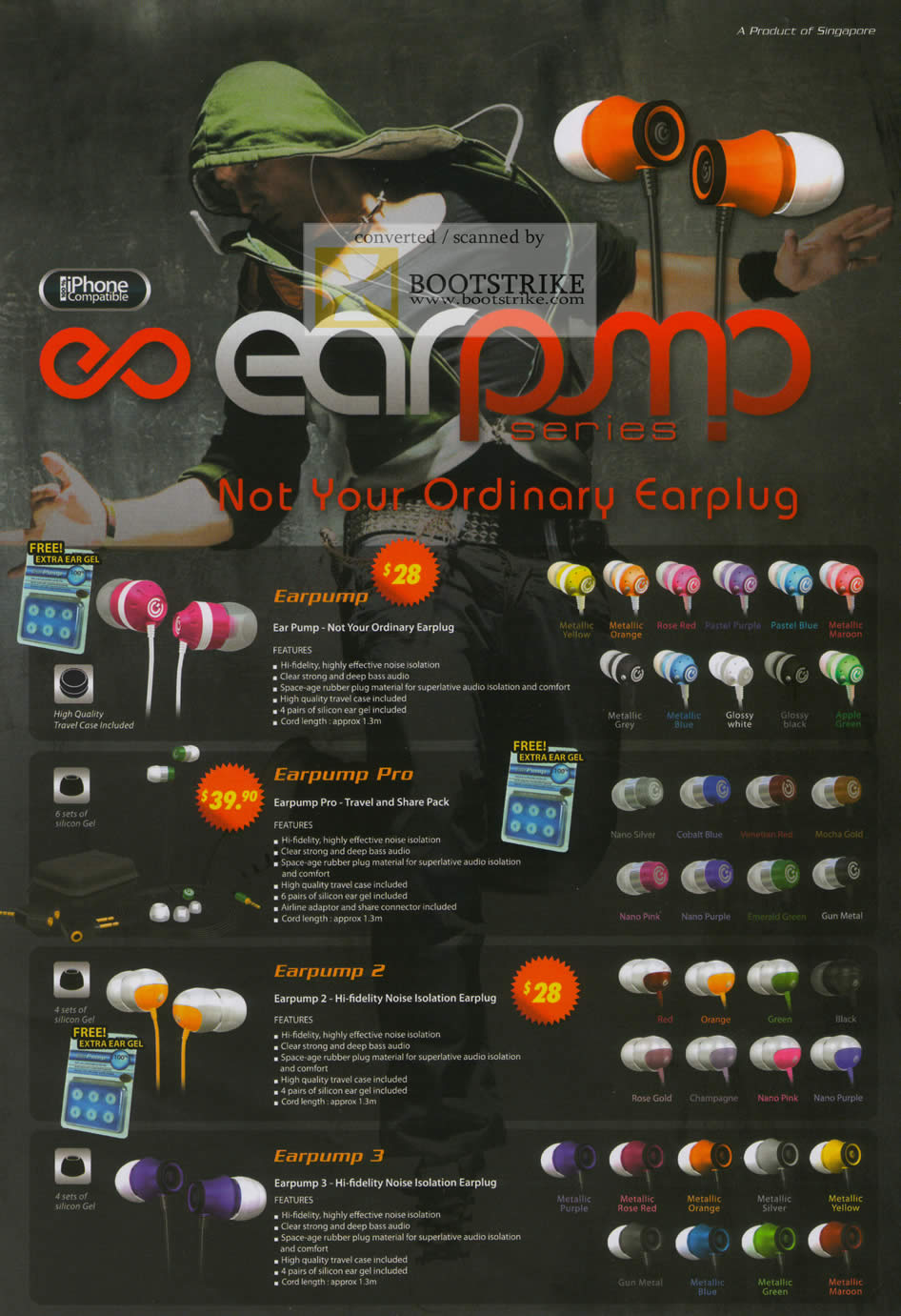 Sitex 2010 price list image brochure of The Headphones Gallery Sonicgear Earpump Series Earplug Earphones Pro 2 3