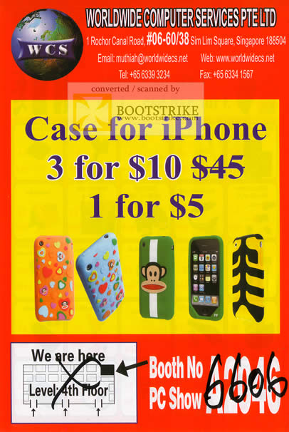 Sitex 2010 price list image brochure of Worldwide Computer IPhone Case
