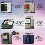 Sony Ericsson Mobile Phones Aino Classic W995 Vivaz Pro Aspen G700 Jalou