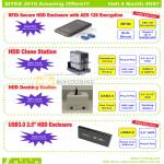 RFID Secure HDD Casing Clone Station Docking Enclosure
