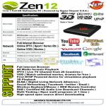 Zen12 Media Player PC Sigma Blu Ray 3D HD DVD UPNP Youtube