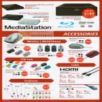 Blu Ray Writer DVD MediaStation Mouse Wireless USB Hub Earphone HDMI LAN Cable