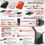 External Storage MiniStation Lite DriveStation Axis Duo AirStation Nfiniti N Router Adapter