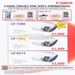 Projectors LV 7280 7285 8215