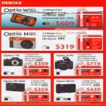 Pentax Digital Cameras Optio W90 H90 I 10 X 90 RS1000 RZ10