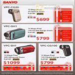 Sanyo Video Camcorders VPC CG20 GH1 SH1 CG100