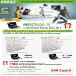 MSI Notebooks C Series CX420 I3 I5