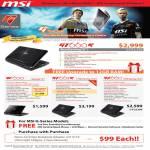 MSI Notebooks G Series Gaming GT660R GE600 GT663R GX660