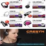 Headphones CS HP500 HP600 C501S C550H C550S CH300