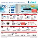 Aztech GR7000 Wireless N Gigabit Router HL280 HomePlug Powerline Ethernet Adapter 3G ADSL2