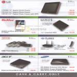 LG Digital Photo Frame McAfee Unis Toshiba Planex Acer Samsung External Storage Router DVD Writer Flash Drive AntiVirus