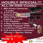 Hourly Special All In One Combo Dome Cameras Network DVR
