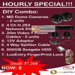 Hourly Special MD Dome Cameras Network DVR LuxEntry FingerPrint