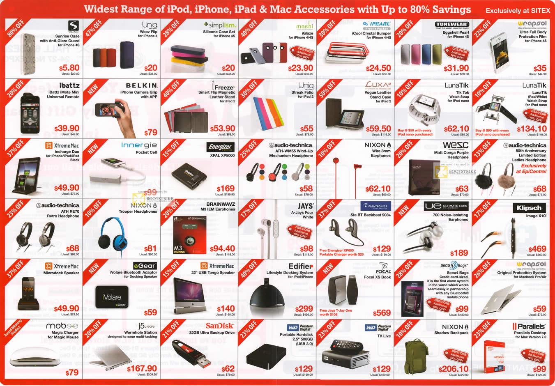 SITEX 2011 Price List Image Brochure Of EpiCentre IPod IPhone Mac Accessories Uniq Freeze