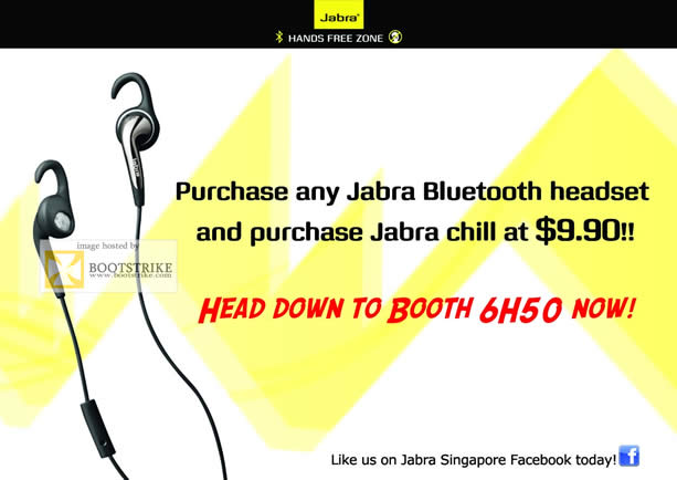 SITEX 2011 price list image brochure of Jabra Bluetooth Headset Chill