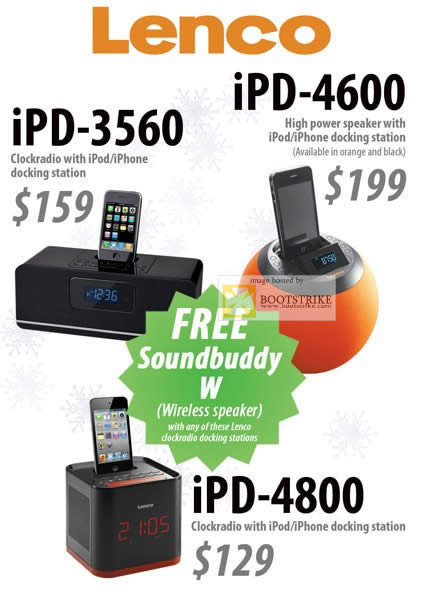 SITEX 2011 price list image brochure of Orange Lenco IPod IPhone Docking Station, IPD-3560, IPD-4600, IPD-4800