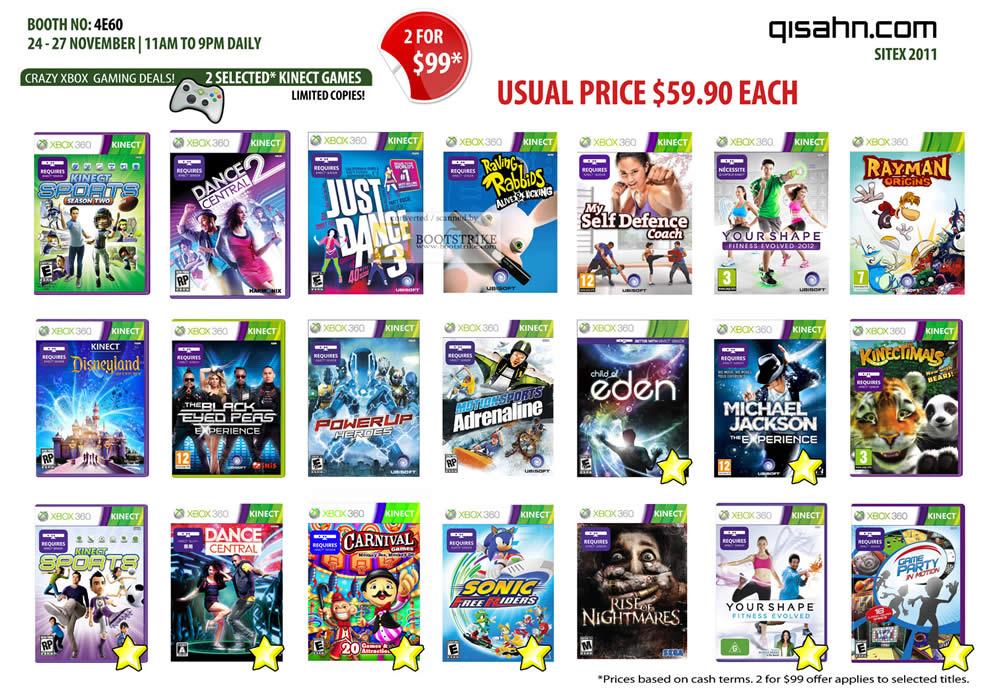 Nintendo Xbox 360 Games Xbox 360 Kinect Games