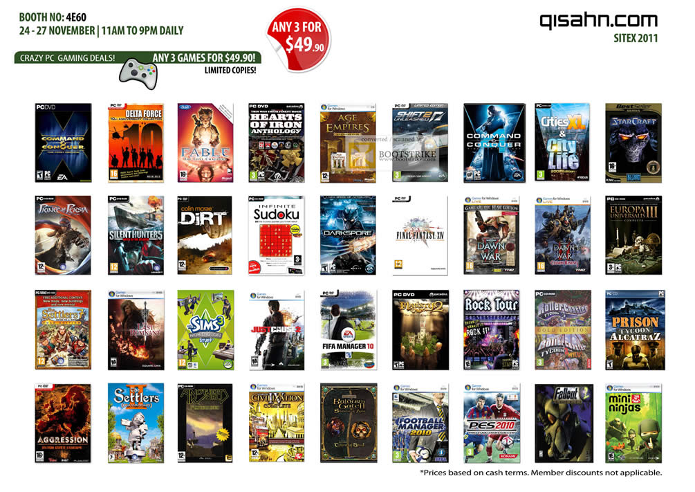 Qisahn PC Games Dirt, Age Of Empire, Command And Conquer