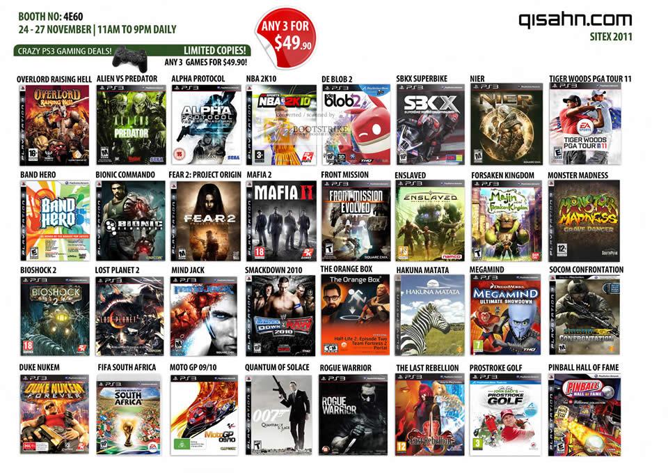 Qisahn Sony Playstation 3 PS3 Games, Overlord Raising Hell, Alien Vs