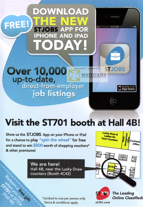 SITEX 2011 price list image brochure of ST701 Free Gift IPhone IPad STJobs App
