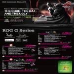 Notebooks ROG G G73SW-3D G73Sw29i7K100BC7PM-FHD3D, G53SX-SX165V, G73SW-FD G73Sw29i7K100BW7PM-FD, G74SX-91232V