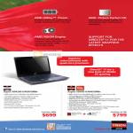 AMD Vision Notebooks Aspire AS4250-E402G50Mn, Aspire 5560G-6344G50Mn
