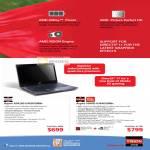AMD Vision Notebooks Aspire AS4250-E402G50Mn, Aspire 5560G-6344G50Mn