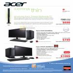 Acer Desktop PC Aspire X3470 E320M45, AX3470 362MR41T, Revo RL100