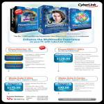Cyberlink Software PowerDirector 10, PowerDVD 11 Ultra, Media Suite 9 Ultra, Media Suite 9 Centra, DVD, Blu-Ray