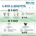 LED Lights Azpire Globe Bulb E14 Base, Candle, Azis Spot Spotlight MR16, E27