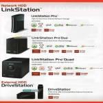 NAS LinkStation Pro, LinkStation Pro Duo, LinkStation Pro Quad, DriveStation External Storage